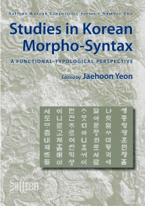 Discusses issues in Korean morpho-syntax from a functional-typological perspective. This book analyses Korean data from a cross-linguistic perspective, showing how cross-linguistic generalisations can contribute to an understanding of the structures in individual languages.